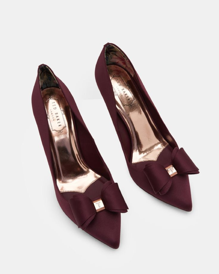 Bow detail courts - Purple | Shoes | Ted Baker SEU