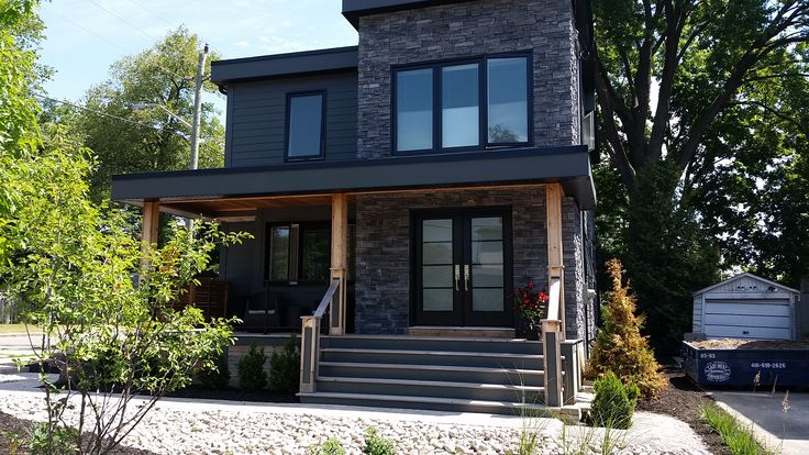Modern Black vinyl windows and doors installation in Toronto