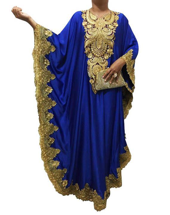 Women Kaftan Ladies Caftan Casual Dresses Satin Maxi Dress One Size Evening Gown