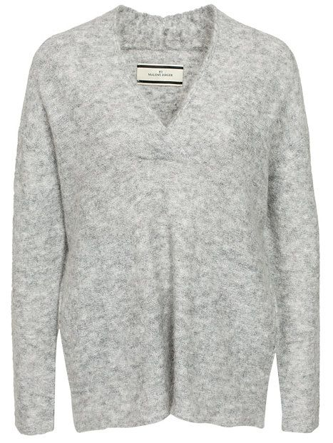 Mantanu Pullover - By Malene Birger - Medium Grey Melange - Jumpers & Cardigans - Clothing - Women - Nelly.com Uk