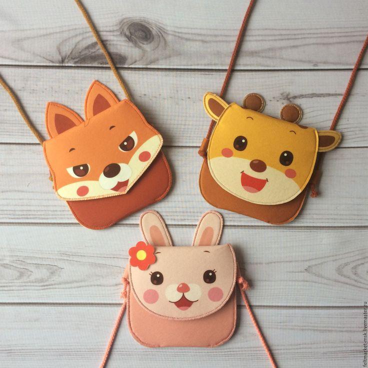 Купить Сумочки детские, сумка из фетра - сумка ручной работы, сумка из фетра, сумочка из фетра