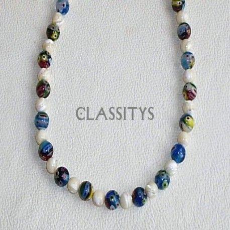 www.classitysjewel.com  230,00 € Murano glass, natural nacre necklace
