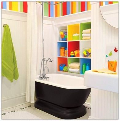 54 best images about kids bathrooms on pinterest for Small kids bathroom ideas