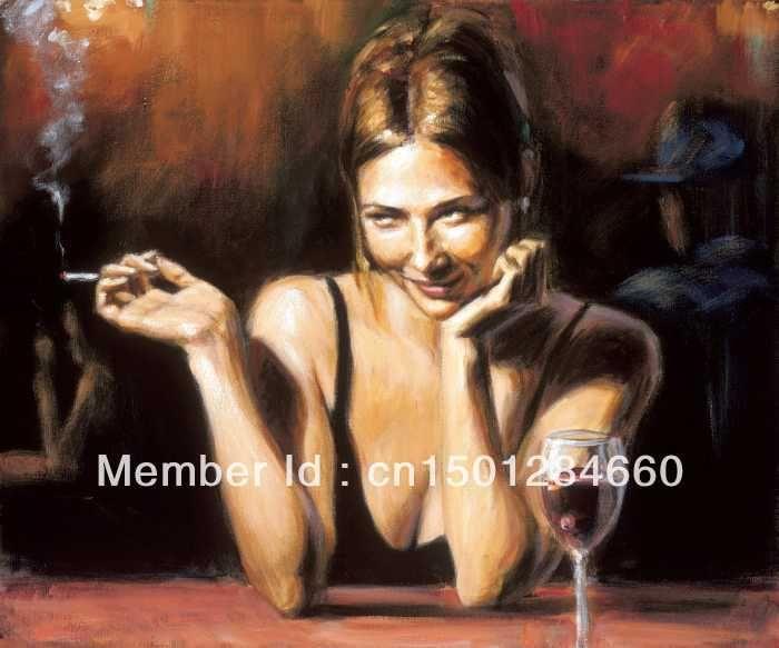 Современная Женщина Живопись Фабиан Перес Искусство сексуальная женщина фотографии дыма современная живопись маслом ручной работы на холсте без рамки
