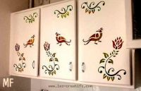 Revamping Kitchen Cupboards And Cabinets With The Help Of A Stencil Cupboard Doors