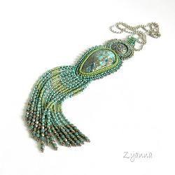 wisior,azuryt,turkus,zieleń - Wisiory - Biżuteria