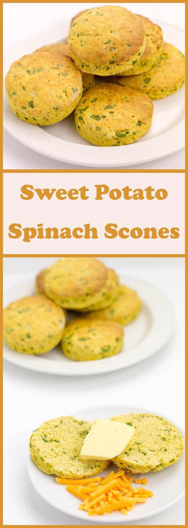 These sweet potato spinach scones are a great way of using up leftover ingredients and are also an excellent snack or a weekend breakfast option. Absolutely delicious served warm with a little butter!