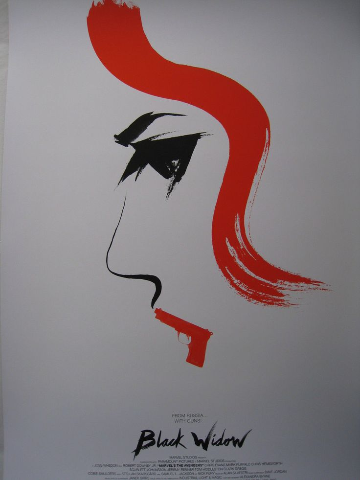 Olly Moss BLACK WIDOW Mondo Limited Edition Screen Print Poster Marvel Avengers | eBay