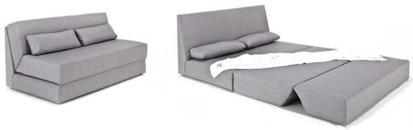SeatPacking Sofa is a 3-seater sofa that easily converts into a double bed.