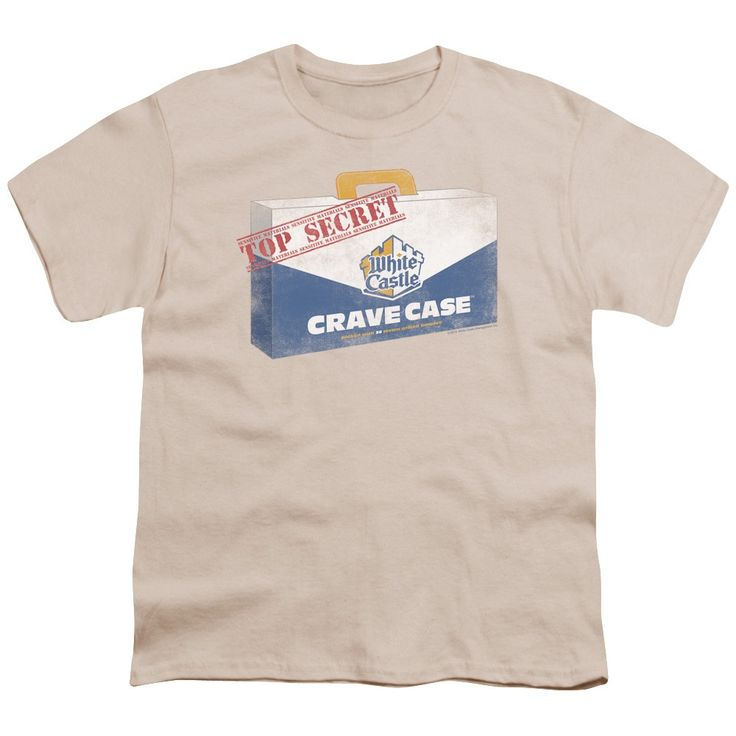 White Castle/Crave Case Short Sleeve Youth 18/1 in Cream, Beige