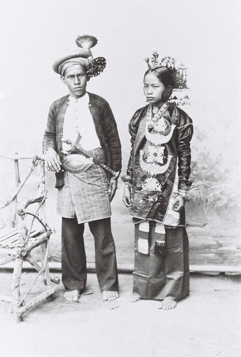 Indonesia, Sumatra. Groom & bride from Solok Selatan - an evolving Minangkabau style