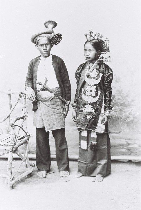 Indonesia, Sumatra. Groom & bride from Solok Selatan - an evolving Minangkabau style