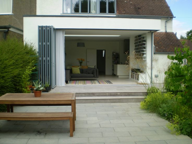 Same tiles inside as outside bifolding doors google for Patio outside bifold doors