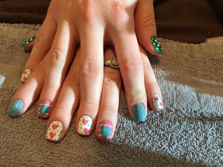A different take on Valentine's nails- by Rhonda