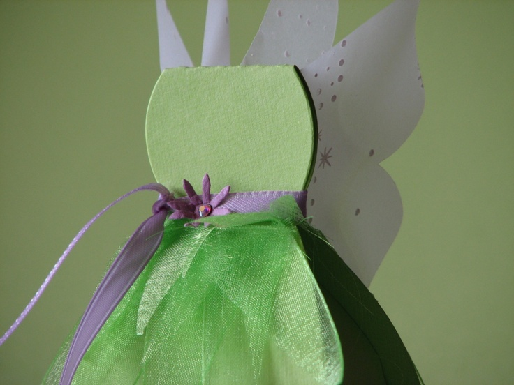 Tinkerbell Party Favor. I have dress shapes on my #silhouette and green tulle