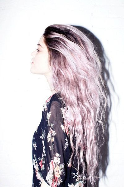 Wish I could rock pastel colors in my hair