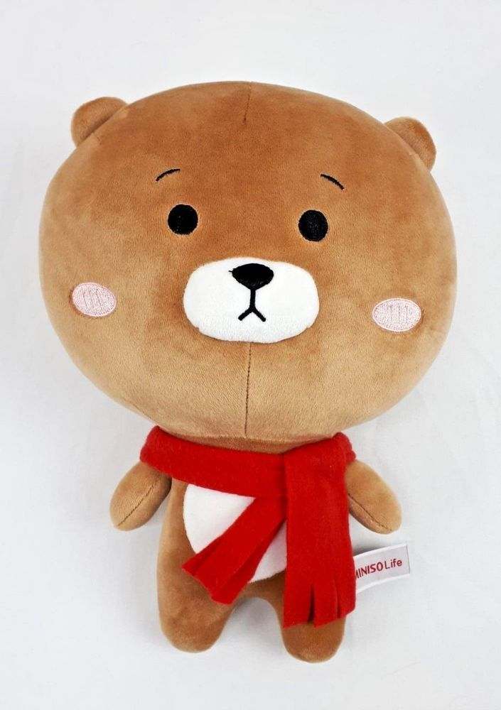 7f46c3a621d Miniso Life Brown Bear with Scarf Plush Toy Japan Soft Cuddly Stuffed Animal  12
