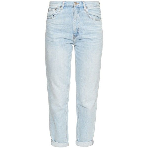 M.i.h Jeans Linda mid-rise boyfriend jeans (15,120 PHP) ❤ liked on Polyvore featuring jeans, pants, bottoms, trousers, light blue, cuffed jeans, boyfriend fit jeans, denim boyfriend jeans, boyfriend jeans and blue jeans