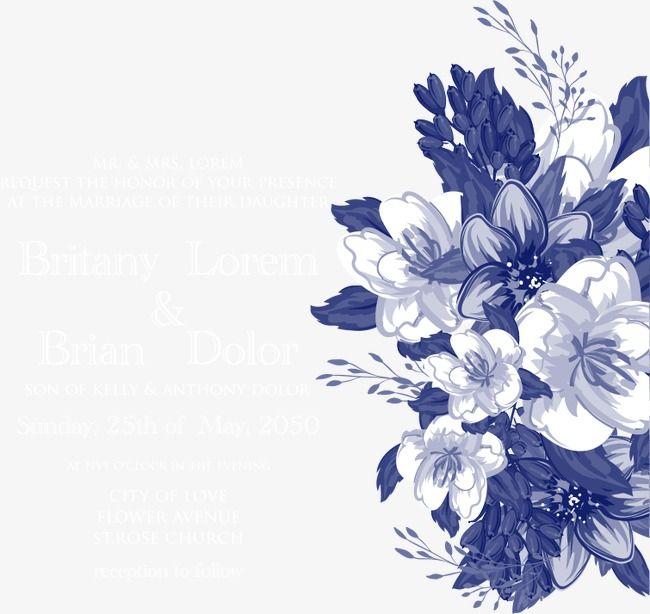 vector blue flowers flower background