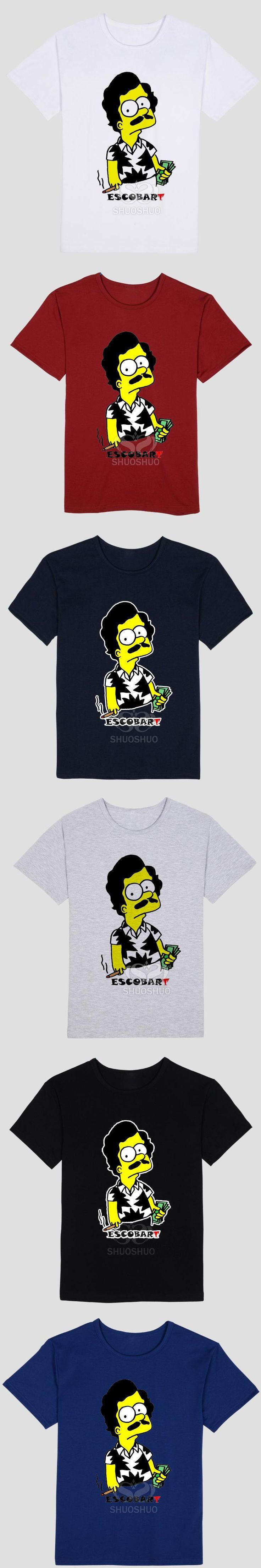 PABLO ESCOBAR Print Tshirt For Men Women Short Sleeve Cotton Casual color Shirt