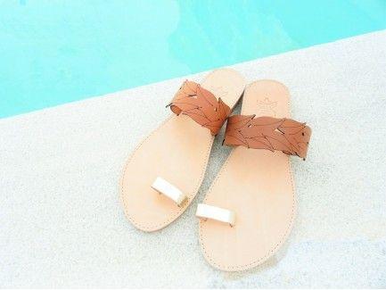 Brown Leaves Sandals