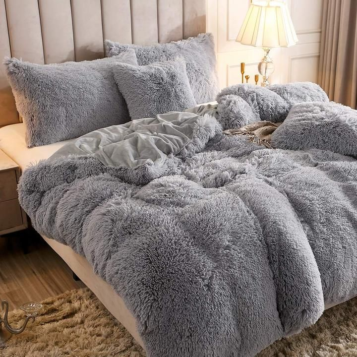 So Warm And Cute This Bedding Sets Protect You From Cold And Make Your Skin Really Smooth And Comfortable Give Y In 2020 Cute Bed Sheets Fluffy Bedding Cute Bed Sets