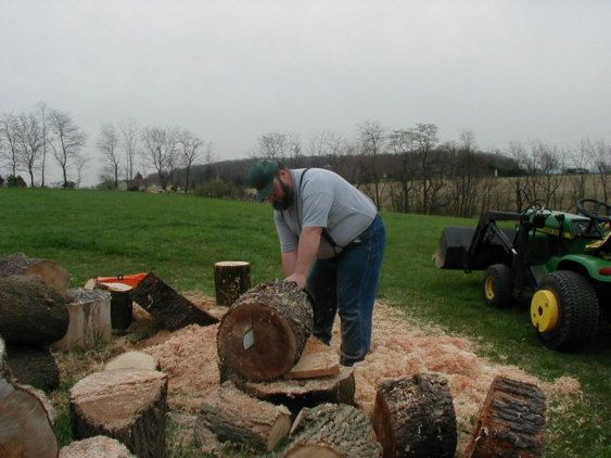 How to cut a log for turning a bowl