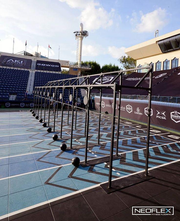 Neoflex Fitness Flooring prepared for the Dubai CrossFit
