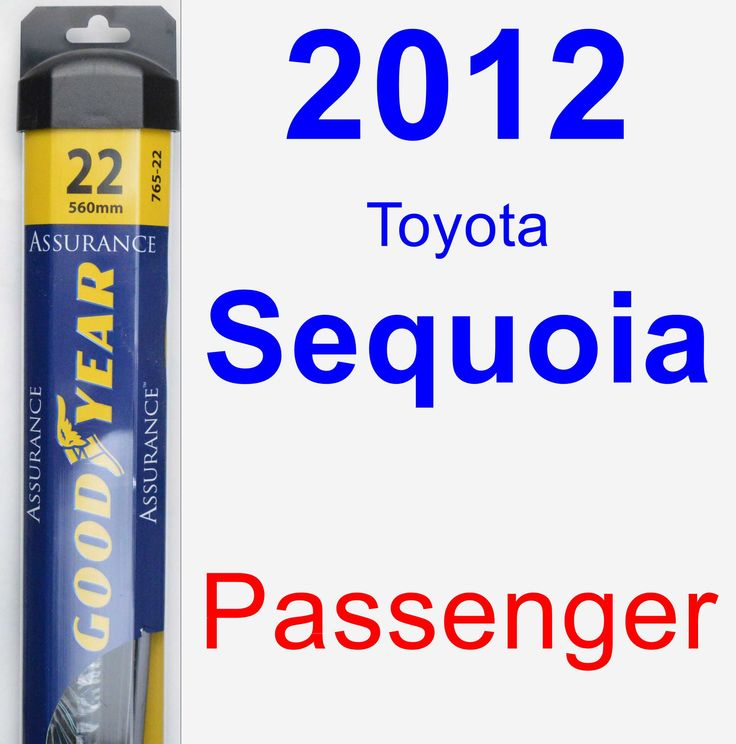 passenger wiper blade for 2012 toyota sequoia assurance products and toyota. Black Bedroom Furniture Sets. Home Design Ideas