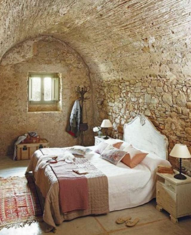 Cozy Bedroom in a Stone Cottage