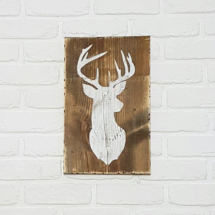 Rustic Deer Sign | Deer Head Wooden Sign | Large Deer Sign | Handmade | Głowa jelenia | Styl rustykalny | Drewniane dekoracje |