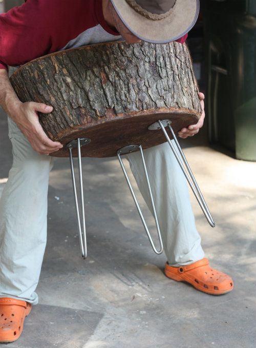 17 best images about tree stump furniture on pinterest for Hollow tree trunk ideas