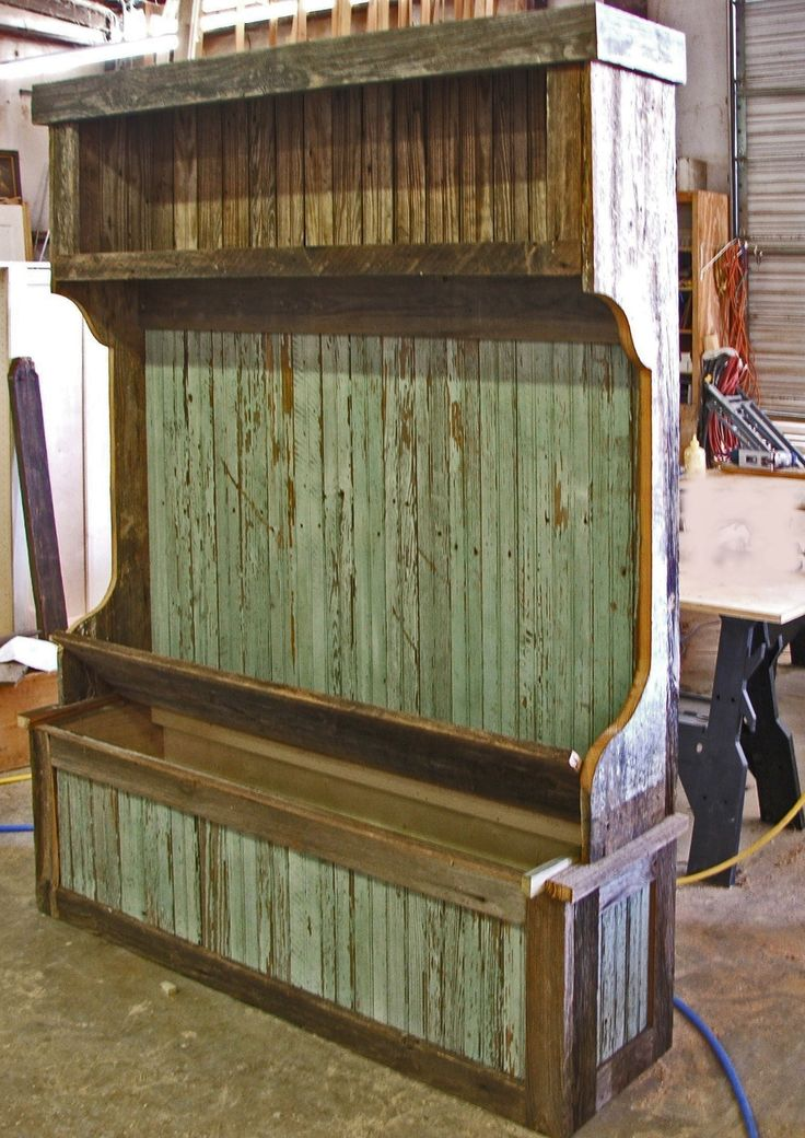 1000 images about pallet hall trees on pinterest bench Furniture made from barn wood