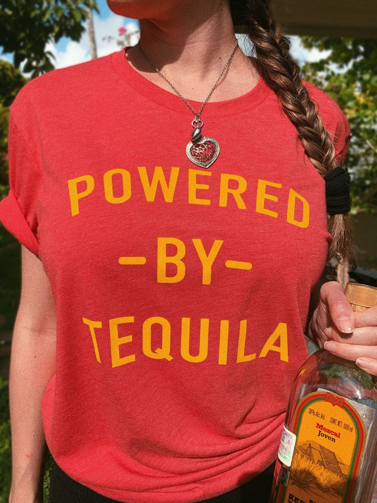 Powered by tequila retro tees cute tequila t shirts