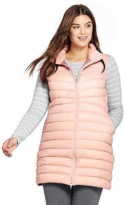 ca0c767d3ab Lands  End Women s Plus Size Ultralight Long Down Vest Packable