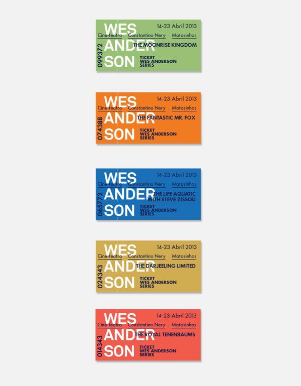 Cinema Theme Week Wes Anderson by Patrick Rijks, via Behance