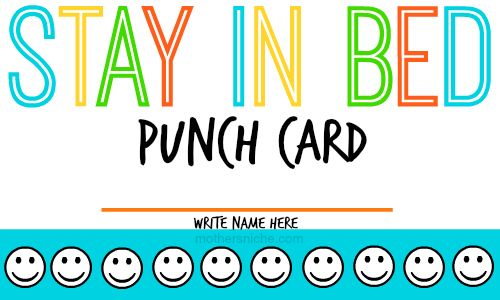 And other fun parenting punch cards {free printables}
