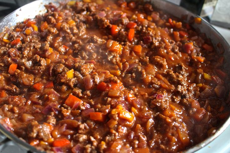 (sub grass-fed beef por carne de soja) Sloppy Joe's- Paleo and Whole30