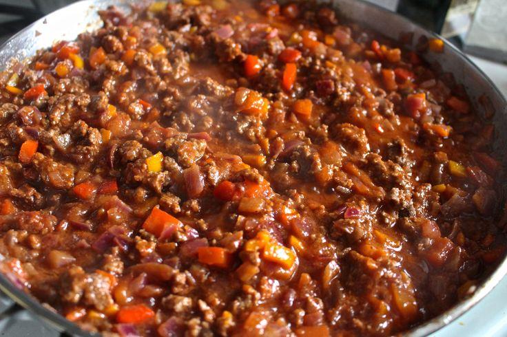 (sub grass-fed beef por carne de soja) Sloppy Joe's- Paleo and Whole30