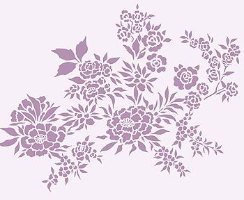images of flower stencils - Google Search