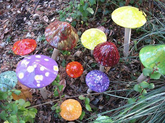 Glass Mushrooms