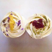Blueberry lemon curd & raspberry cupcakes