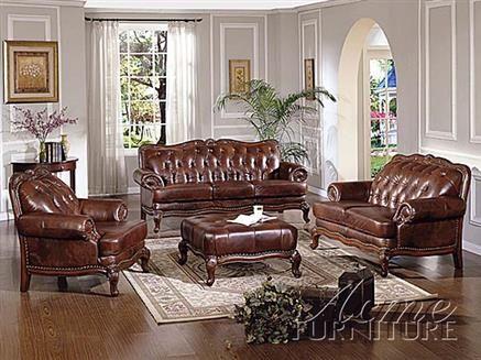 best Living Room Leather Furniture  on Pinterest