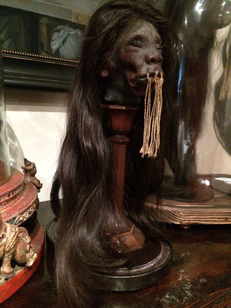 Authentic Human Shrunken Head For Sale!  G. Howard McGinty / Director  Real Shrunken Heads  www.RealShrunkenHeads.com  www.Human-Oddities.com