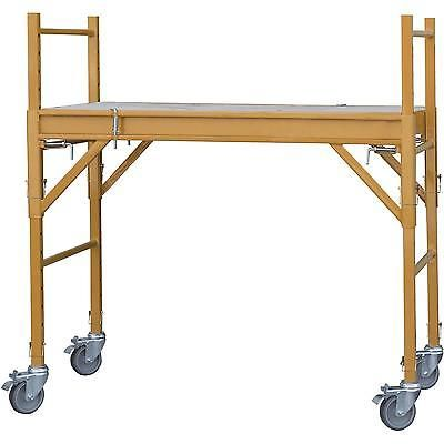 Multipurpose Scaffolding Rolling Mini Scaffold Platform Workbench Steel Frame