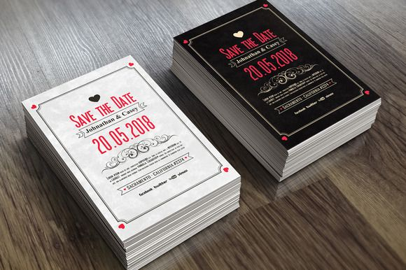 Save the Date - Invitation 02 by VectorMedia on @creativemarket