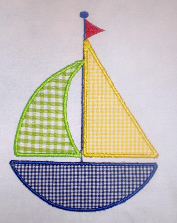 Sailboat Embroidery Design Applique. $2.99, via Etsy.