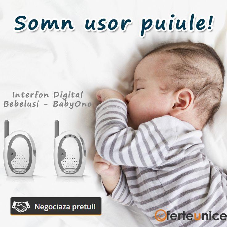 Pentru linistea parintilor.  Interfon digital bebelusi BabyOno. Monitorizarea bebelusilor  #Romania #copii #interfon
