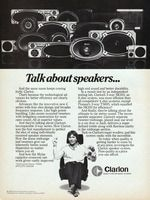 Clarion Car Speaker System 1980 Ad Picture
