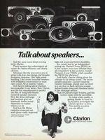 Clarion Car Speaker System 1980 Ad Picture